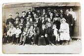 ancient photo of soviet railwaymen