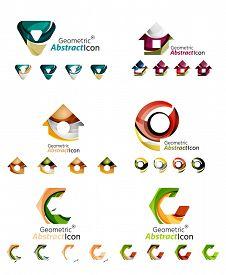 stock photo of emblem  - Universal abstract geometric shapes  - JPG