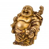 foto of phylacteries  - statuette of Chinese god  - JPG