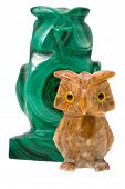 stock photo of phylacteries  - two stone owls  - JPG