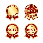 Award Ribbon The Best Seller Set poster