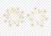 Firework Gold Isolated poster