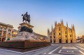 Milan Cathedral (milan Duomo) When Sunrise, Milan (milano), Italy poster