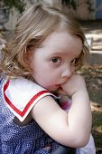 Cute Little Toddler Girl poster