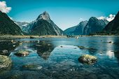 Milford Sound In New Zealand poster