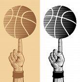 Basketball Ball On The Finger 2