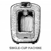Illustration Of Coffee Machines poster