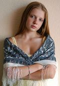 Young Model In Russian Scarf