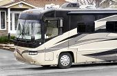 foto of motor coach  - Luxury on wheels large recreational vehicle ready to go - JPG