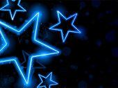 Fundo de estrelas de néon brilhante