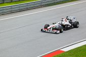 Sepang, Malaysia - April 8: Kamui Kobayashi (team Sauber) At First Practice On Formula 1 Gp, April 8