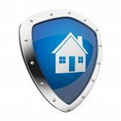 image of safe haven  - Silver shield with a home - JPG