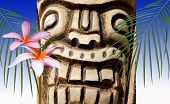 Symbols Of Hawaii - Wooden Tiki