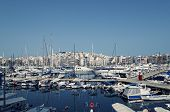 picture of piraeus  - Boats in Piraeus Marina in Athens Greece - JPG