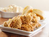 pic of southern fried chicken  - fried chicken meal - JPG