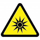 Optical Radiation Warning Sign
