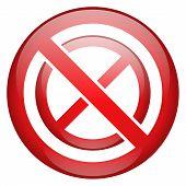 Prohibit Prohibition Sign