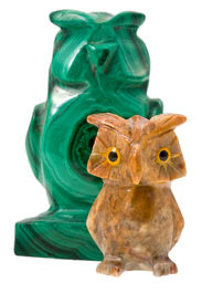 pic of obeah  - two stone owls  - JPG