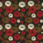Seamless Background With Varicoloured Circles