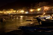Sicily - Giardini Naxos town view at night
