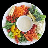 Colorful vegetable platter