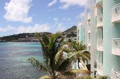 Overlooking resort area from Lighthouse 3C Property at Dawn Beach in Saint Marten