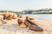 shoes On The Danube Bank - Monument As A Memorial Of The Victims Of The Holocaust During Wwii On T poster