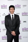 LOS ANGELES - FEB 25:  Ian Somerhalder arrives at the 2012 Film Independent Spirit Awards at the Bea