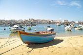 Harbor from Lagos in the Algarve in Portugal