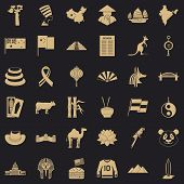 Europe Icons Set. Simple Style Of 36 Europe Vector Icons For Web For Any Design poster