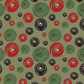 Seamless Pattern With Abstract Circles