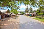 Main street in Kuta village. Lombok. Indonesia