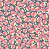 Aquarelle Floral Seamless Pattern, Blur Flower Background. Fuzzy  Watercolor Botanical Illustration, poster