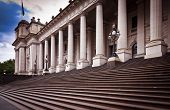 This Building Is Melbourne Parliament House In Victoria, Australia. From 1901 To 1927 It Was Used By poster