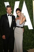 WEST HOLLYWOOD, CA - FEB 26: David Beckham; Victoria Beckham at the Vanity Fair Oscar Party at Sunse