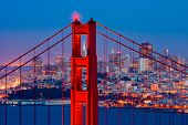 Golden Gate Bridge and downtown San Francisco