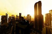 Futuristic Metropolis 3D render