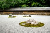 pic of shogun  - A Zen Rock Garden in Ryoanji Temple - JPG