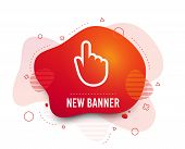 Fluid Badge. Hand Cursor Sign Icon. Hand Pointer Symbol. Abstract Shape. Gradient Cursor Icon. Flyer poster