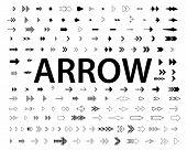 Set Of Black Vector Arrows. Arrow Icon. Arrow Vector Icon. Arrow. Arrows Vector Collection poster