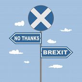 Image Relative To Politic Situation Between Great Britain And Scotland. Politic Process Named As Bre poster