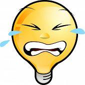 Lighting Bulb Icon - Crying