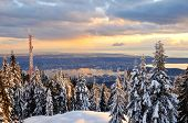 Grouse Mountain Winter Sunset