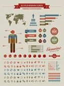 High Quality Vintage Styled Infographics Elements