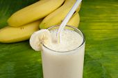 refreshing healthy yogurt banana smoothie milk shake