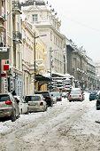 Winter Belgrade Street
