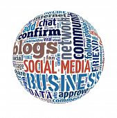 stock photo of  media  - Social Media concept in word collage - JPG