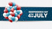 4th Of July United States National Independence Day Celebration Banner On A Transparent Background W poster