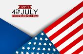 4th Of July United States National Independence Day Celebration Background With American Flag. Vecto poster