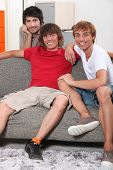 Young men sharing an apartment together
